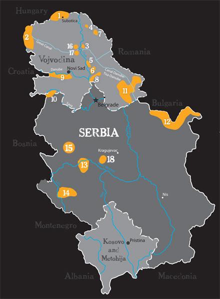 carska bara mapa Birdwatch in Serbia   Birding Serbia carska bara mapa